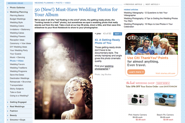 Featured | The Knot's 50 Must Have Wedding Photos