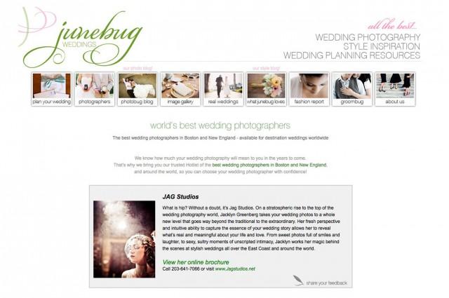 JAGstudios + Junebug Weddings...!!!