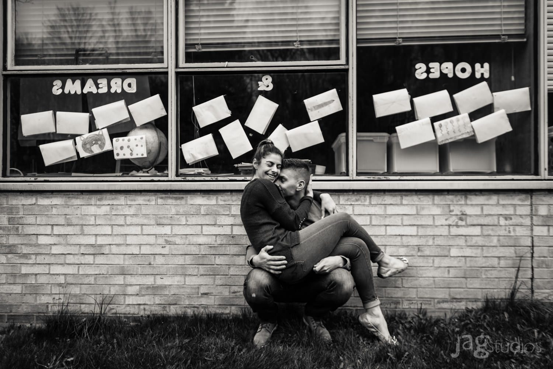 Elementary School Sweethearts Engagement Photography JAGstudios